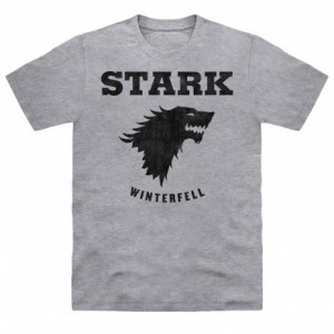 Official Game of Thrones - Stark Direwolf Organic T Shirt