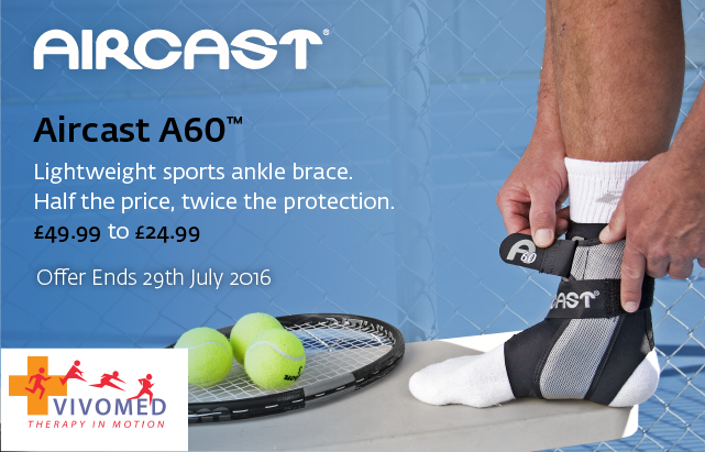 Aircast A60 ankle brace half price at www.Vivomed.com
