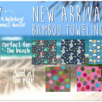 Bamboo Towelling Onesies The All-in-One Company New Summer Fabrics