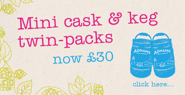 Adnams Mini cask twin packs £30