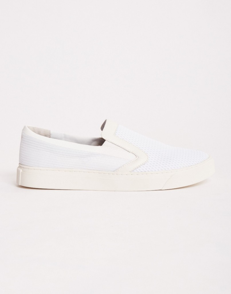 slip on white plimsolls