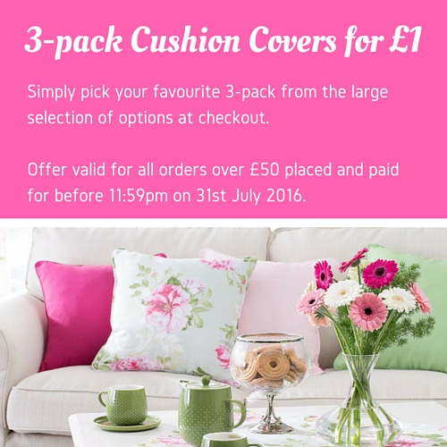 3-pack Cushion Covers for £1