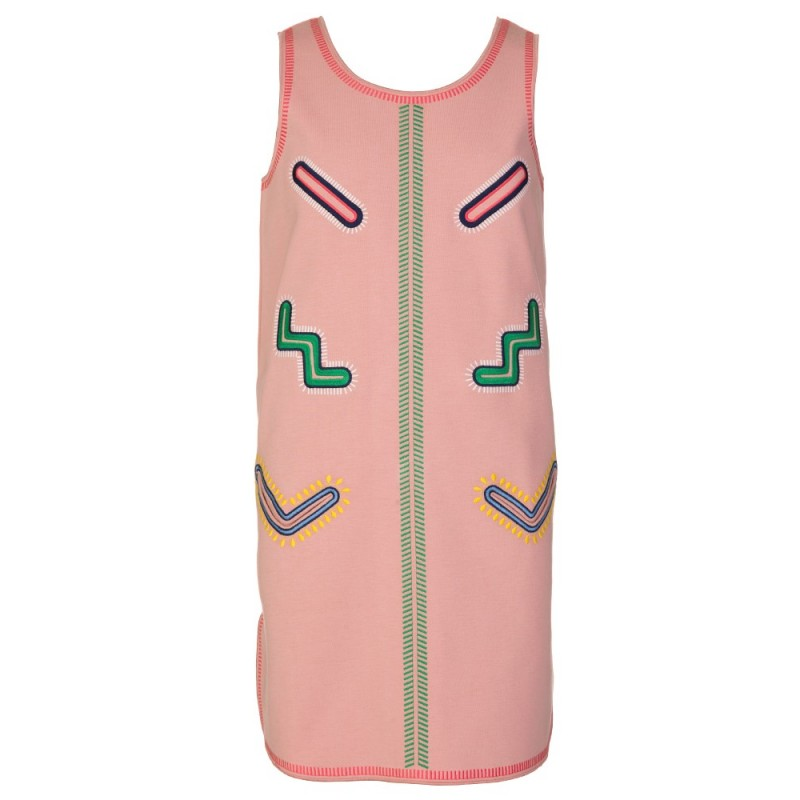 STELLA MCCARTNEY KIDS PINK BIRCH SCUBA DRESS