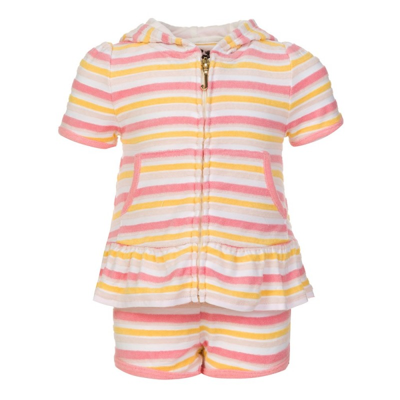 JUICY COUTURE JUNIOR PINK STRIPED TRACKSUIT