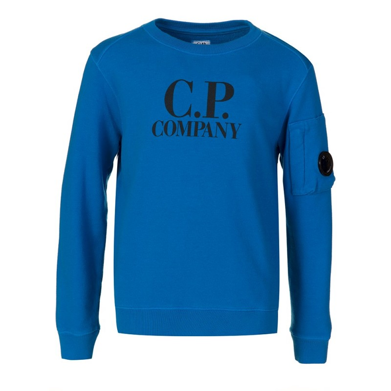 CP COMPANY UNDERSIXTEEN BLUE GOGGLE LENS SWEATSHIRT