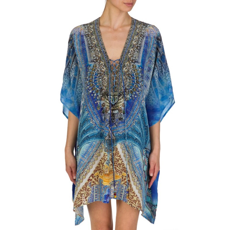 CAMILLA BLUE PALACE OF DREAMS LACE KAFTAN