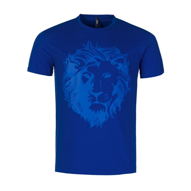 VERSUS VERSACE ROYAL BLUE LION HEAD T-SHIRT