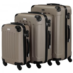 VonHaus Champagne Luggage Set
