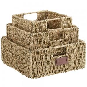 VonHaus Seagrass Baskets