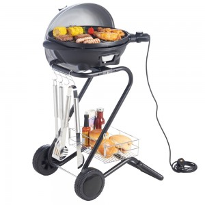 VonHaus Silver Electric BBQ