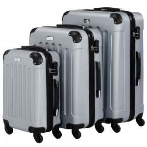 VonHaus Silver Luggage Set