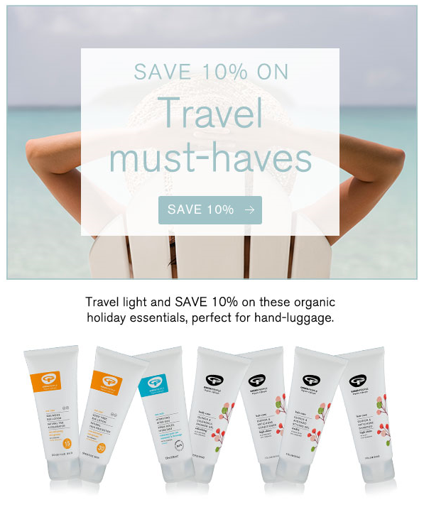 Save 10% on travel sizes