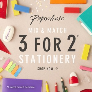 Paperchase 3 for 2 on Stationery