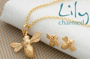 Lily Charmed Gold Bee Jewellery Set