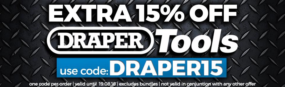 15% off draper tools