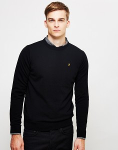 farah black jumper