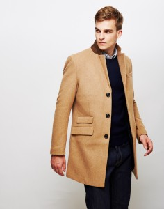 farah overcoat in tan