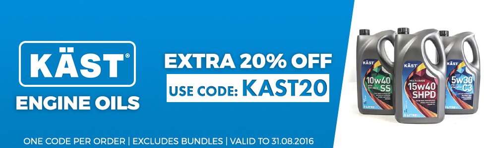 Kast engine oils 20% off