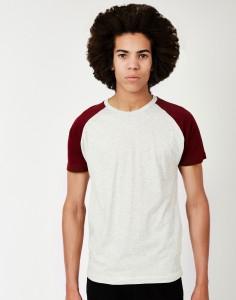 red raglan tshirt