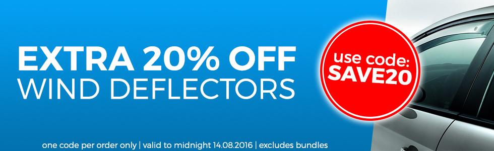 20% Off Wind Deflectors