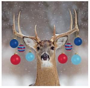 Reindeer tri baubles