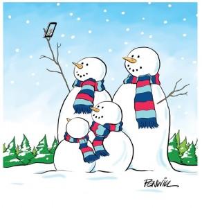 Selfie Snowman
