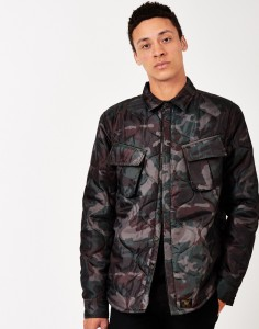camo jacket huf