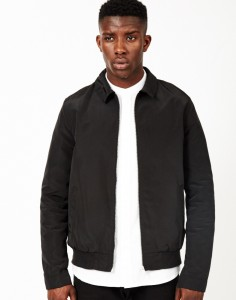 twill black jacket