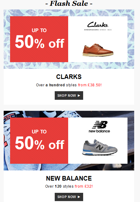 New Balance and Clarks Flash Sale