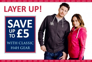 Layer up with £5 off classic clothing