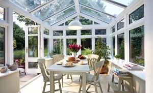 White wooden Regency conservatory Fuggle22756