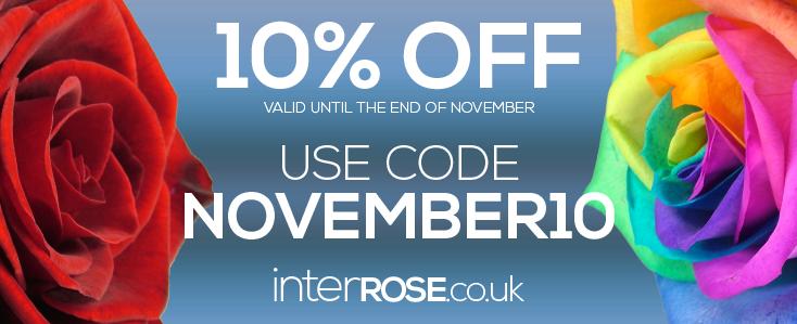 10% at interROSE.co.uk throughout November