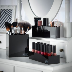 Beautify Black Make Up Storage Box set