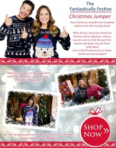 Check out our festive Help for Heroes Christmas jumpers this season!