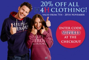 Savings on all H4H clothing
