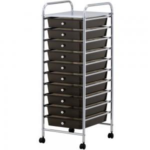 black storage drawers
