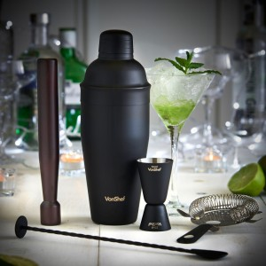 Matte black cocktail set