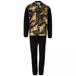 Young Versace Black Baroque Tracksuit