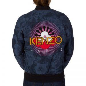 Kenzo Navy Back Logo Print Bomber
