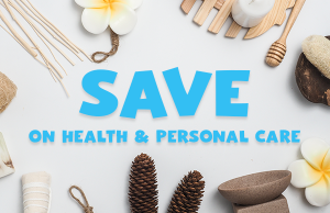 Save on health and personal care image