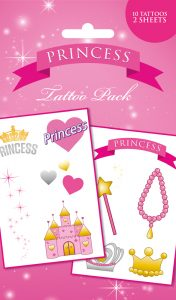 Last Chance: Princess Temporary Tattoo Pack £1.50
