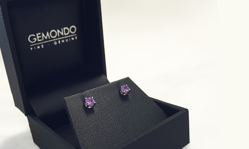 free amethyst earrings when you spend £75 at Gemondo