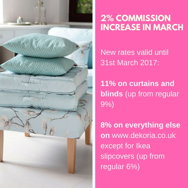 2% commission increase in March 2017
