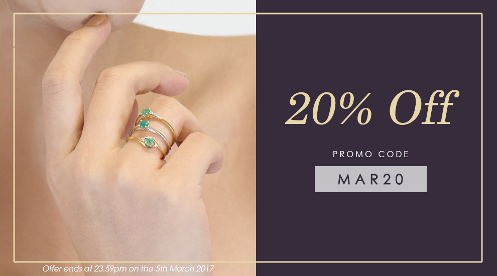 20% off at Gemondo jewellery