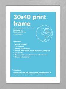 Frame sale - Silver 30 x 40 frame