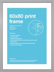 Frame bundles - 60 x 80cm silver