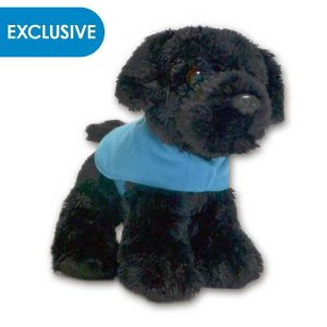Image of Black Labrador Puppy Soft Toy