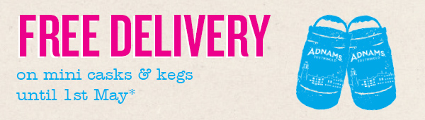 Adnams Free Delivery on Adnams Mini casks and kegs
