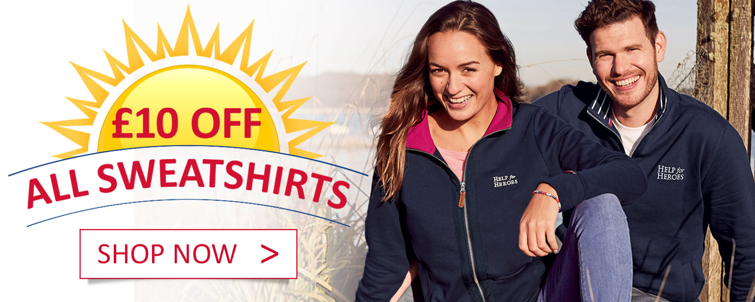 £10 off sweatshirts