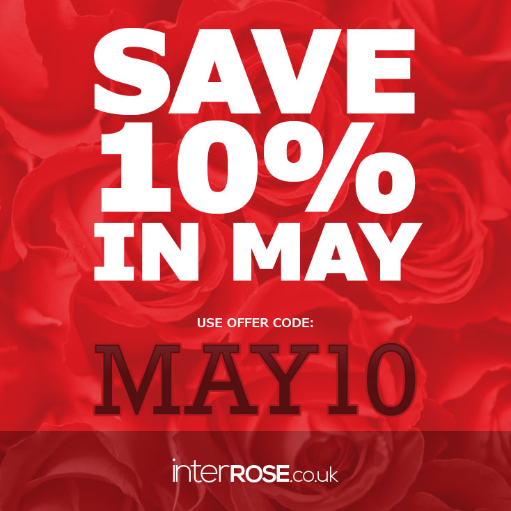 Save 10% in May at interROSE.co.uk